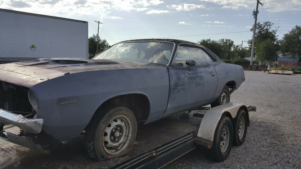needs a lot of TLC 1973 Plymouth Barracuda CUDA project