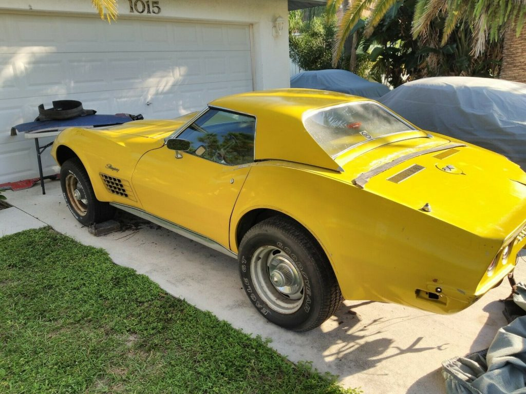 new parts 1972 Chevrolet Corvette project
