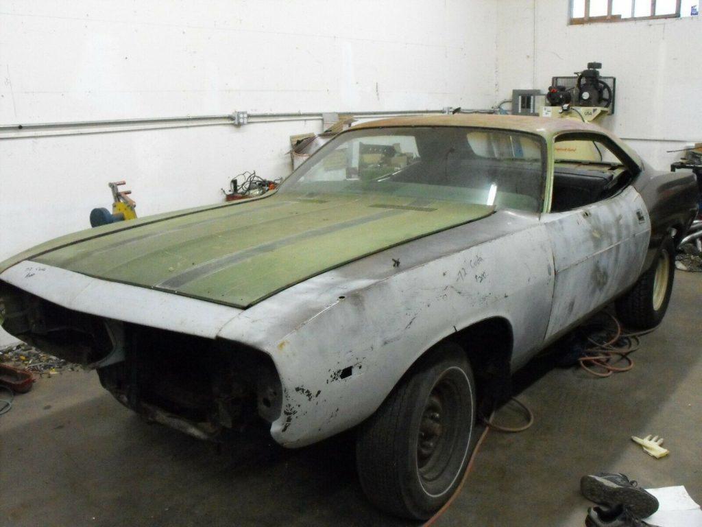 original 1972 Plymouth Barracuda project