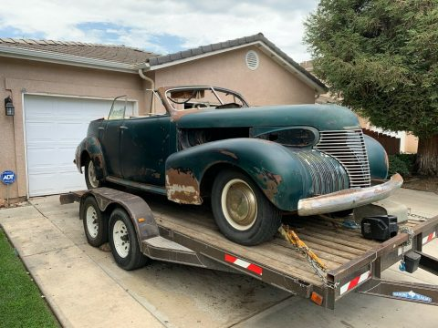 rare 1940 Cadillac 40 Sedan Convertible project for sale