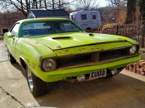 real 1970 Plymouth Barracuda 'cuda project for sale