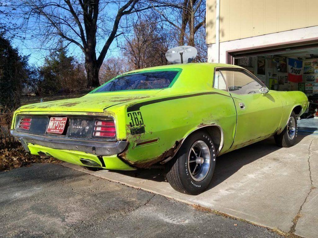 real 1970 Plymouth Barracuda 'cuda project