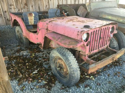 military 1942 Ford GPW Willys MB WWII Jeep project for sale