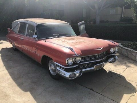 needs TLC 1959 Cadillac Superior Hearse project for sale