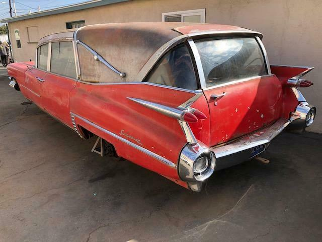 needs TLC 1959 Cadillac Superior Hearse project