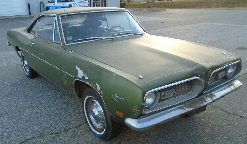 slant six 1969 Plymouth Barracuda project
