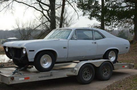 solid 1970 Chevrolet Nova 2 door coupe project for sale