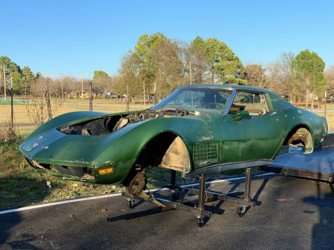 solid 1972 Chevrolet Corvette project for sale