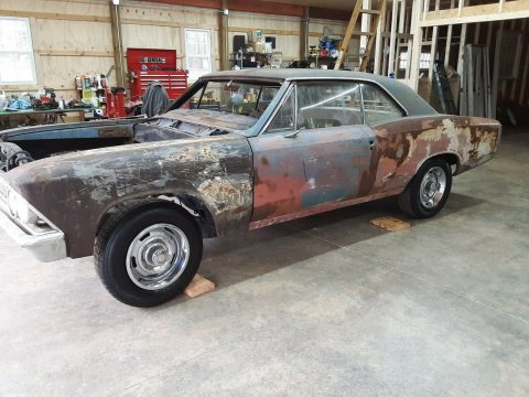 solid 1966 Chevrolet Chevelle Malibu Project for sale