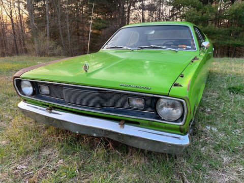 seized engine 1971 Plymouth Duster project for sale
