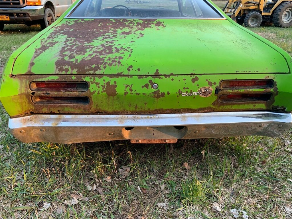 seized engine 1971 Plymouth Duster project