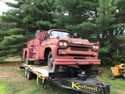 solid 1958 Chevrolet Viking 60 Fire Truck project for sale