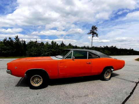 solid 1968 Dodge Charger project for sale