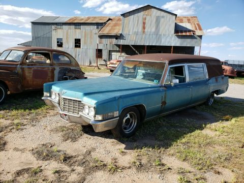 complete 1969 Cadillac Hearse project for sale