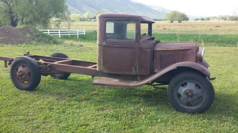 solid 1932 Ford BB truck project for sale