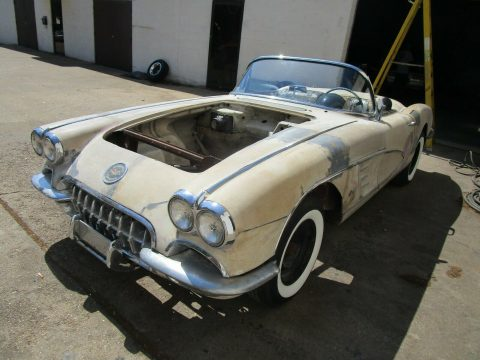 some work done 1958 Chevrolet Corvette project for sale