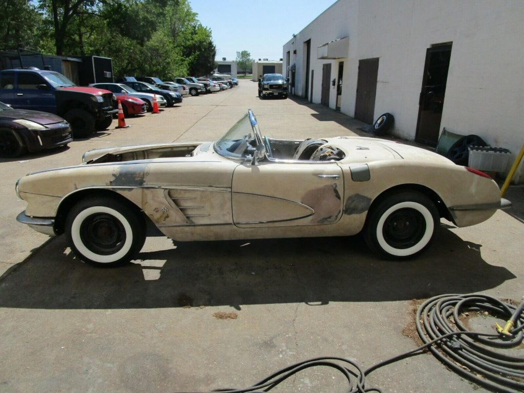 some work done 1958 Chevrolet Corvette project