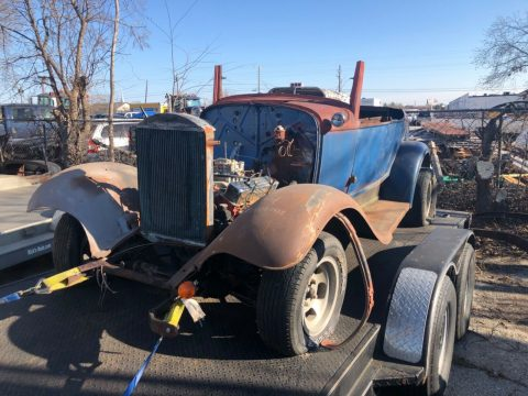 steel 1932 Ford Roadster hot rod project for sale