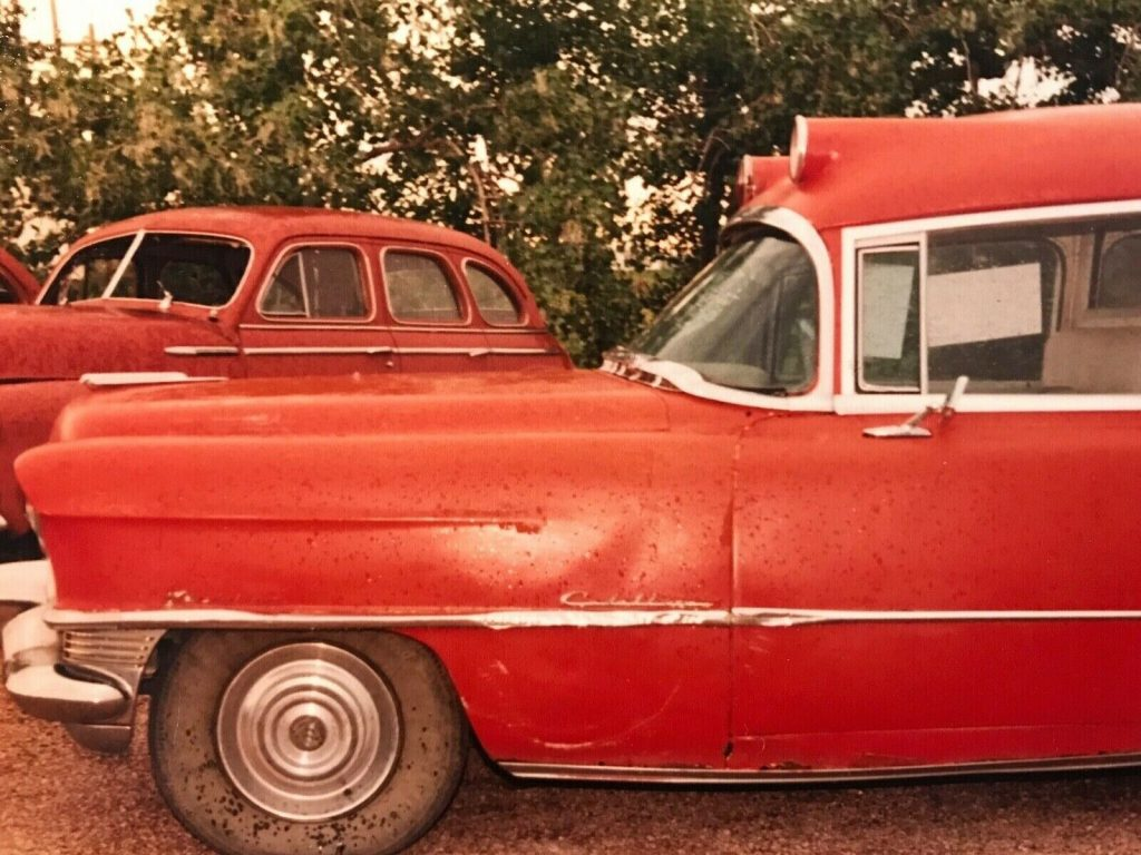 barn queen 1955 Cadillac Miller Ambulance Hearse project